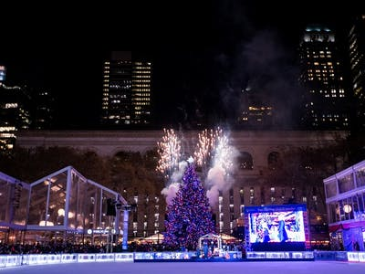 tree lighting skate tacular